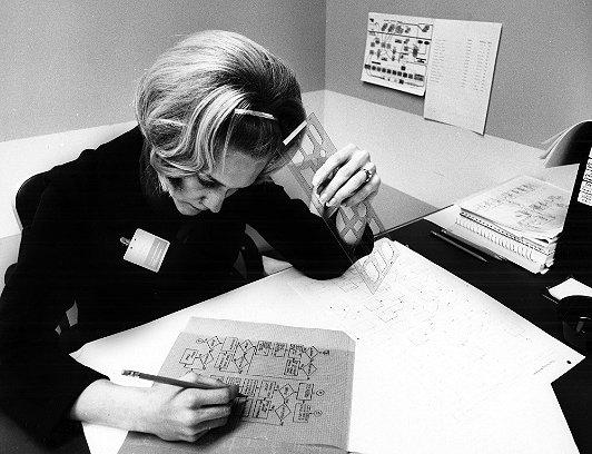 Photo courtesy of IBM Corporate Archive, circa 1965.