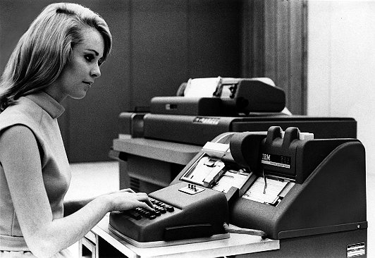 Photo courtesy of International Business Machines (IBM) Corporate, circa 1965.
