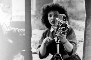 """Maya Deren was the """"most noted female American experimental filmmaker"""" in the 1940s and until her death.  This photo comes from the Boston University Mugar Library Howard Gotlieb Archival Research Center. You can find more information about Maya Deren, here."""