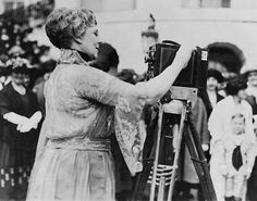 Woman working camera